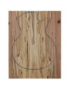 Drop Top Haya Spalted Guitarra / Bajo Eléctrico