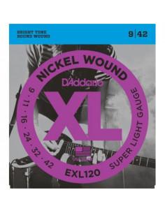 Juego Cuerdas D'Addario Eléctrica EXL120