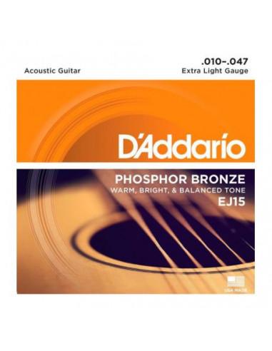Acoustic Guitar EJ15 D'Addario Strings Set