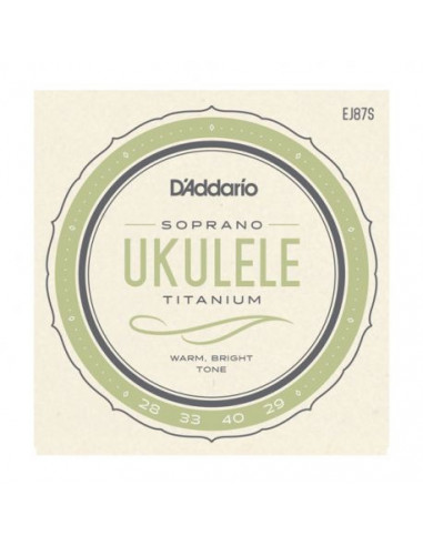 Soprano Ukelele EJ87S D'Addario Strings Set