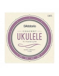 Concert Ukelele EJ87C D'Addario Strings Set