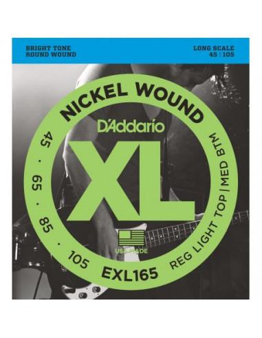 Bass Guitar EXL165 D'Addario Strings Set