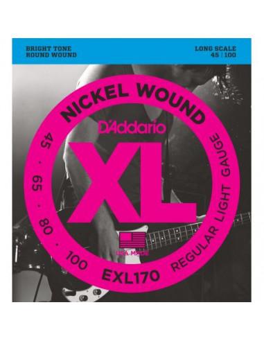 Bass Guitar EXL170 D'Addario Strings Set