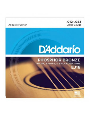 Acoustic Guitar EJ16 D'Addario Strings Set