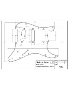 Pickguar For Electric Guitar S-BK3-A