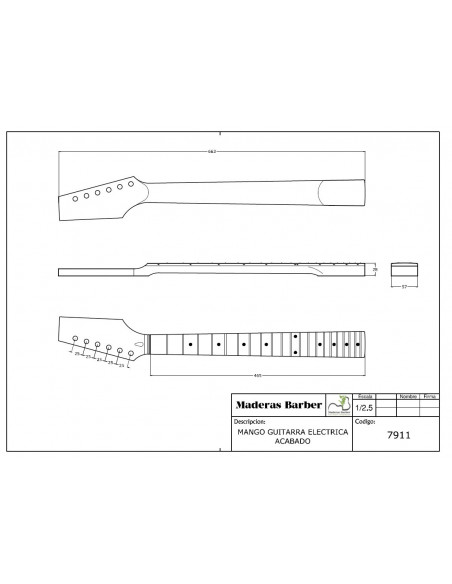 SST 10GN1W Finished Maple Neck for Electrical Guitar