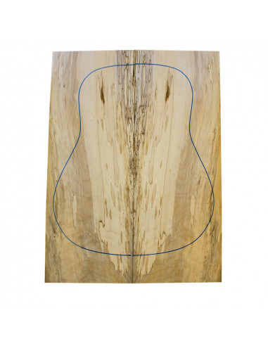 Spalted Maple Acoustic Guitar Backs