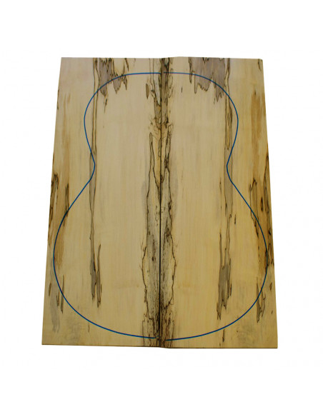 Spalted Maple Classic Guitar Backs