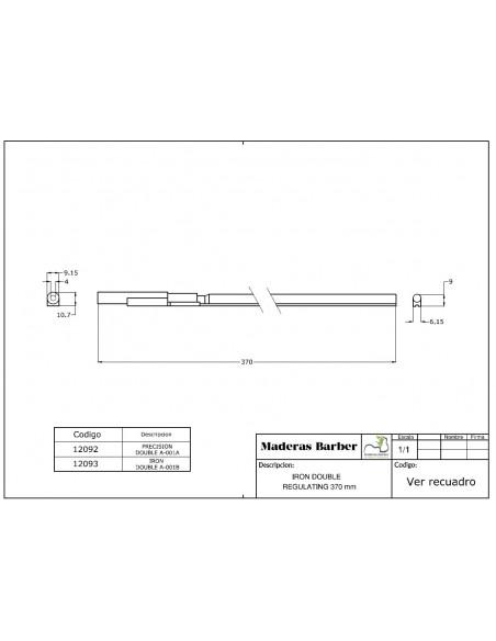 370 mm precision double action truss rod