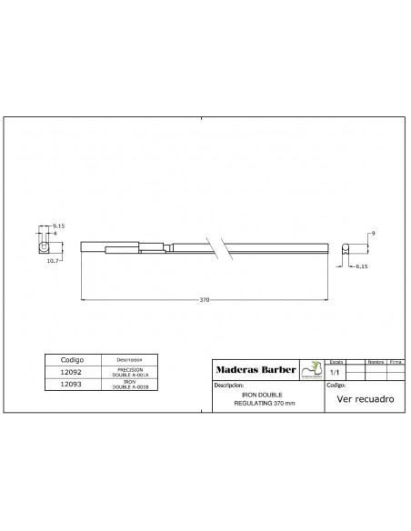 370 mm double action truss rod