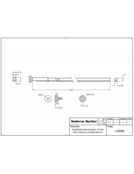 430 mm precision double action truss rod