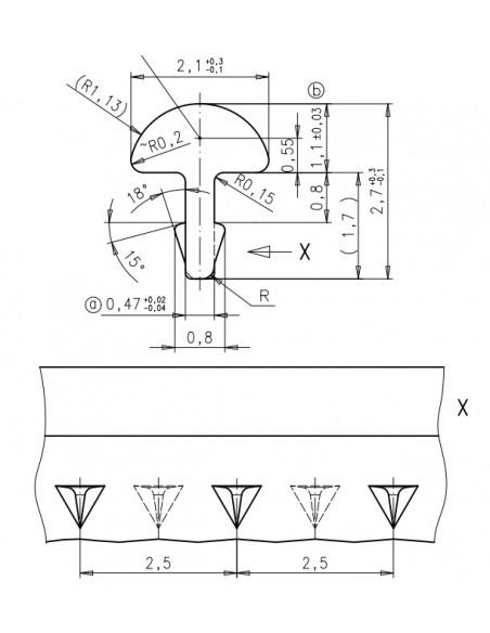 Set. Striated C-183 (19 Und.)