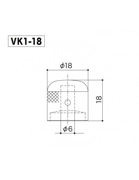 Gotoh® Dome Knob Gold VK1/18-GG
