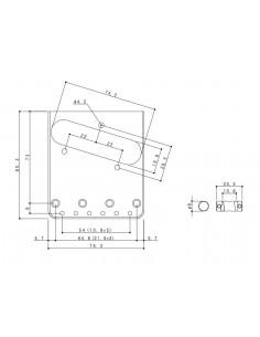 Puente Gotoh® Cromo Relic BS-TC1-AC
