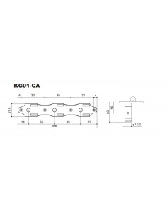 Clavijero Gotoh® X Cosmo Black KG01CA/BB-XCK 3+3