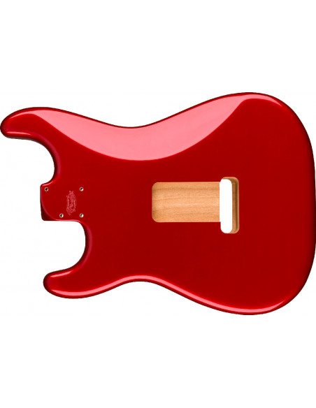 Fender® Deluxe Series Stratocaster® Alder Body, Candy Apple Red