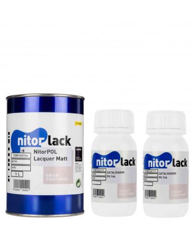 Matte Lacquer NITORPOL (1l) + 046 PU Hardener NITORLACK® (2x0,25l)