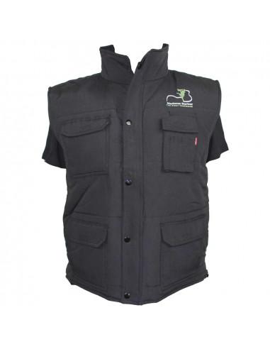 Black Multi-Pocket Vest Maderas Barber