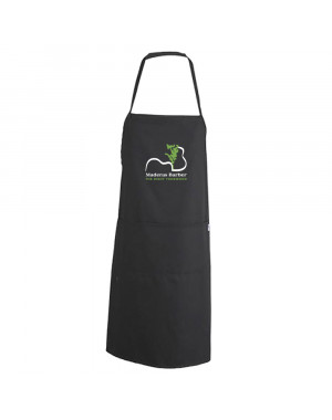 Black smooth apron with...