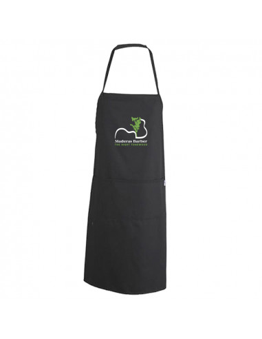 Black smooth apron with breastplate