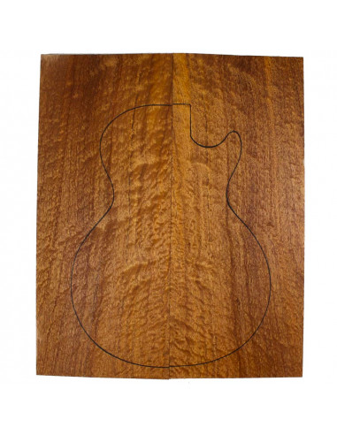 AA Carved Top Sapele Quilted Bass /...