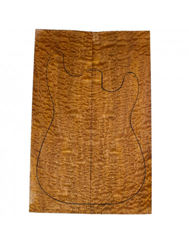 AAA Carved Top Sapele Quilted Bass /...