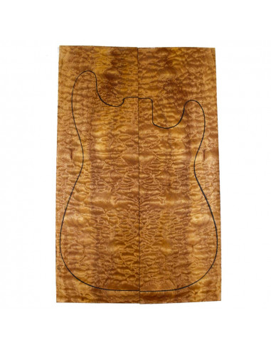 AAA Drop Top Sapele Quilted Bass /...