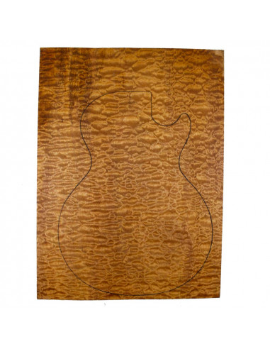 1 Piece Master Body Sapele Quilted...