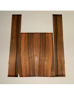 Juego Ébano África Exótico Acústica (550x215x4,5 mm)x2 (825x125x4 mm)x2