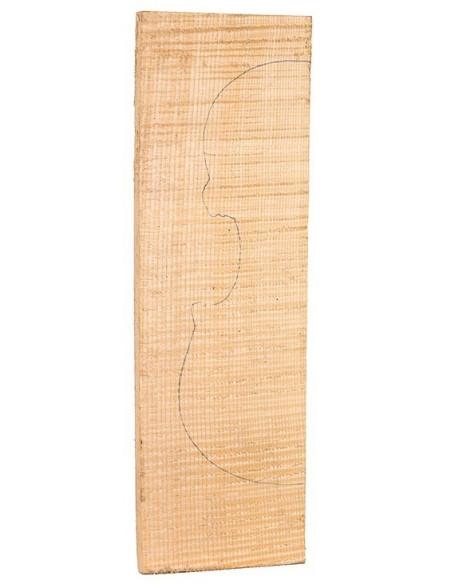 AAA Curly Maple Backs 440x130x47/22 mm.