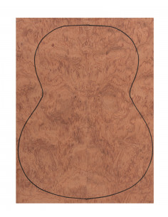 Back Bubinga Outer Face 0,5 mm. + Sapele Inner Face (550x400x2,2/2,4 mm.)