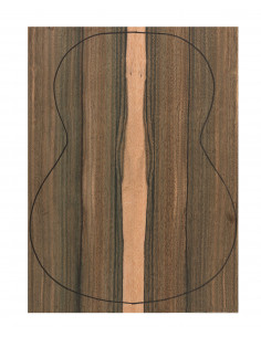 Back Green Ebony Outer Face 0,5 mm. + Sapele Inner Face (550x400x2,2/2,4 mm.)
