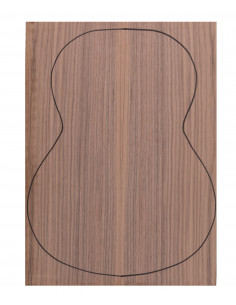 Back Walnut Outer Face 0,5 mm. + Walnut Inner Face (550x400x2,2/2,4 mm.)