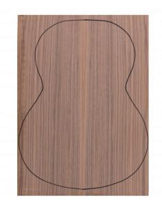 Fondo Cara Nogal 0,6 mm + Contra Sapelli Guitarra Clásica