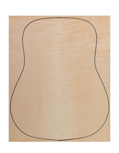 Back Flame Maple Outer Face 0,5 mm. + Sycamore Inner Face (550x400x2,2/2,4 mm.)