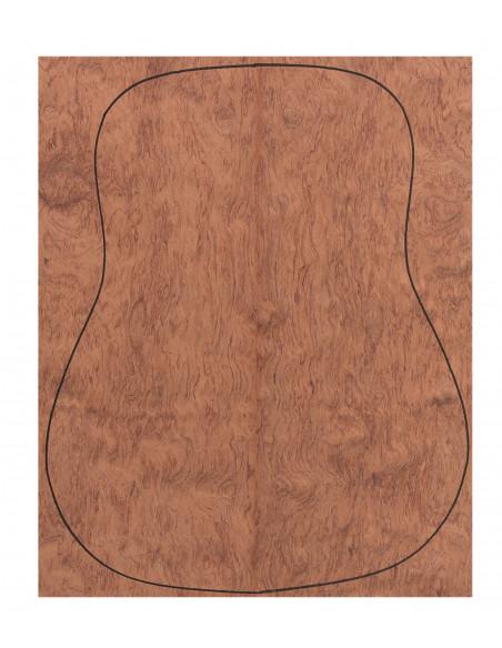 Back Bubinga Outer Face 0,5 mm. + Sapele Inner Face (550x400x2,2/2,4 mm.)