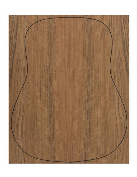 Back Ovangkol Outer Face 0,6 mm. + Ovangkol Inner Face (550x400x2,2/2,4 mm.)