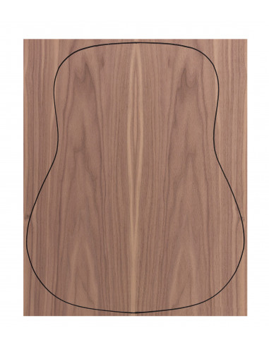 Back Walnut Outer Face 0,5 mm. + Sapele Inner Face (550x400x2,2/2,4 mm.)
