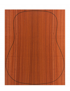 Back Padouk Outer Face 0,6 mm. + Sapele Inner Face (550x400x2,2/2,4 mm.)