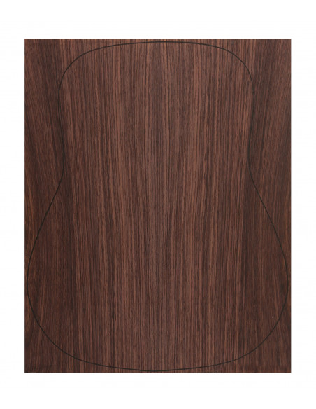 Back Indian Rswd. Outer Face 0,5 mm. + Sapele Inner Face (550x400x2,2/2,4 mm.)