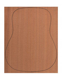 Acoustic Back Sapele Outer Face 0,7 mm + Sapele Inner Face