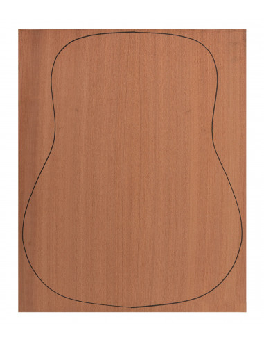 Back Sapele Outer Face 0,7 mm. + Sapele Inner Face (550x400x2,2/2,4 mm.)