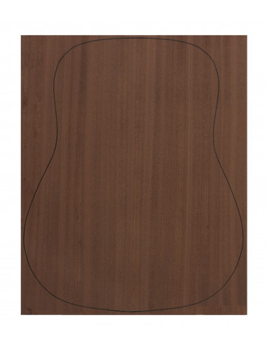Back Dyed Sapele Outer Face 0,7 mm. + Dyed Sapele Inner Face (550x400x2,2/2,4 mm.)