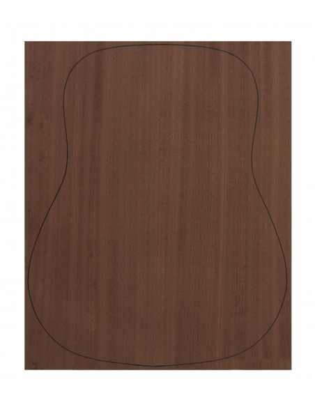 Back Dyed Sapele Outer Face 0,7 mm. + Sapele Inner Face (550x400x2,2/2,4 mm.)