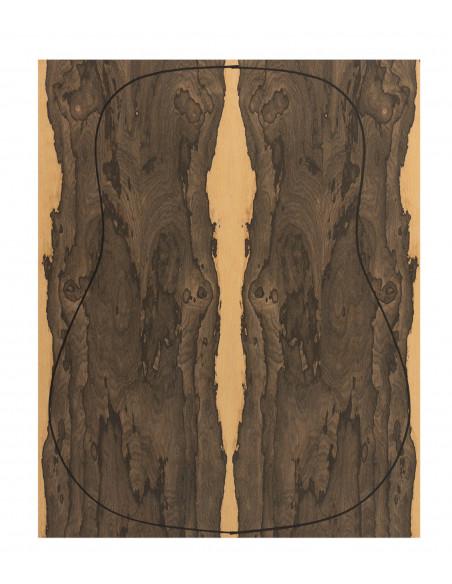 Fondo Cara Ziricote 0,6 mm. + Contra Ziricote (4 piezas) (550x440x2,2/2,4 mm.)