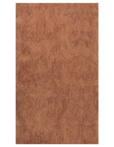 Top / Bottom Board Curly Bubinga 0,5 mm. + Phenolic Birch 9 mm.