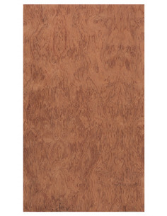 Flamenco Cajon Side Board Curly Bubinga 0,5 mm + Phenolic Birch 9 mm