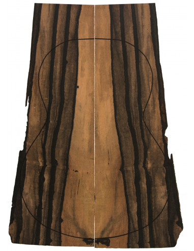 Pinhole Ebony Backs (550x200x4 mm.)x2
