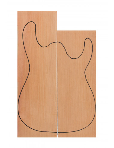 Asymetric Body Honduras Cedar (CITES) 530x160x50mm + 450x160x50mm