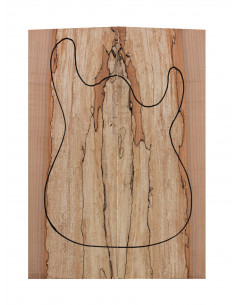 Spalted Maple Body Tops Bass / Electric Guitar